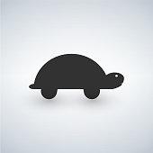 Turtle icon isolated on white background.