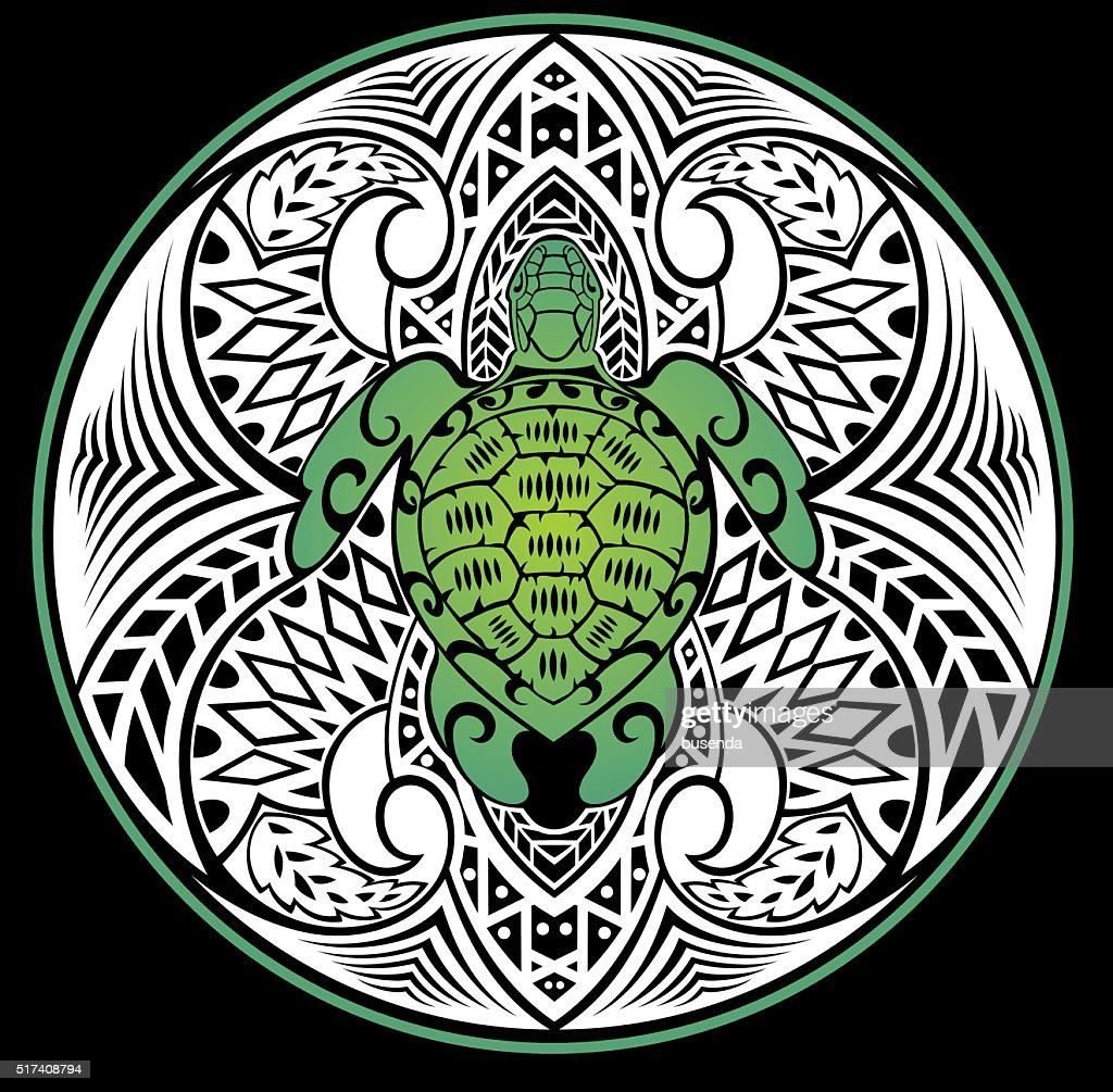 Turtle in a tribal style