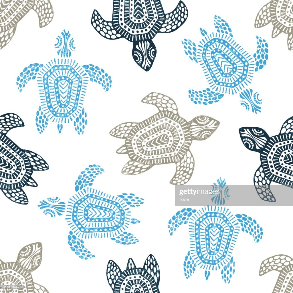 Turtles - seamless pattern.