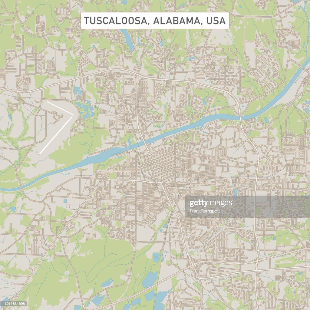 Tuscaloosa Alabama US City Street Map