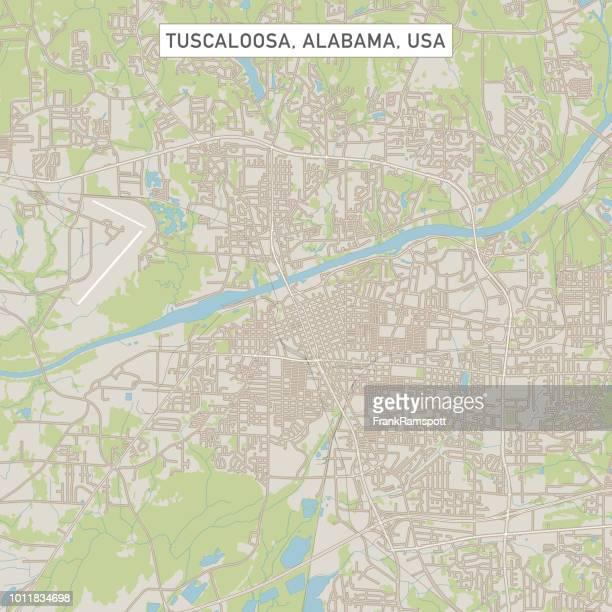 米国アラバマ州タスカルーサ市地図 - タスカルーサ点のイラスト素材/クリップアート素材/マンガ素材/アイコン素材