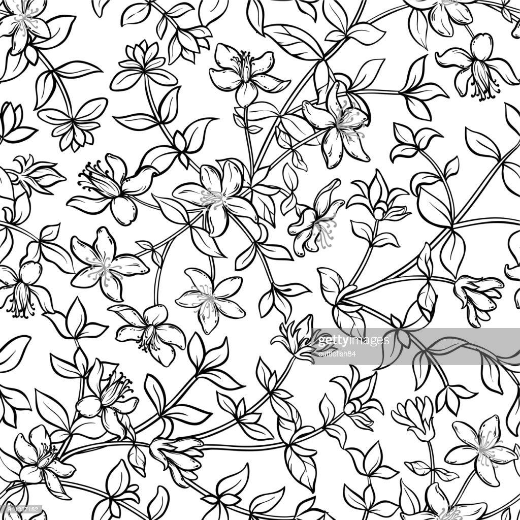 tutsan seamless pattern