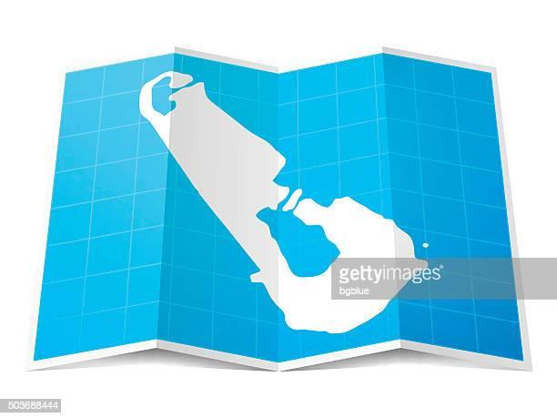 tuvalu map folded, isolated on white background - tuvalu stock illustrations, clip art, cartoons, & icons