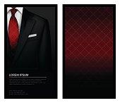 Tuxedo background with tie