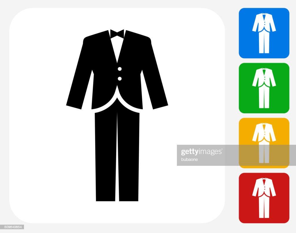 Tuxedo Icon Flat Graphic Design