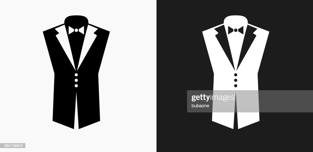 Tuxedo Icon on Black and White Vector Backgrounds : stock illustration