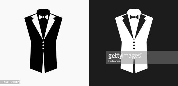 Tuxedo Icon on Black and White Vector Backgrounds