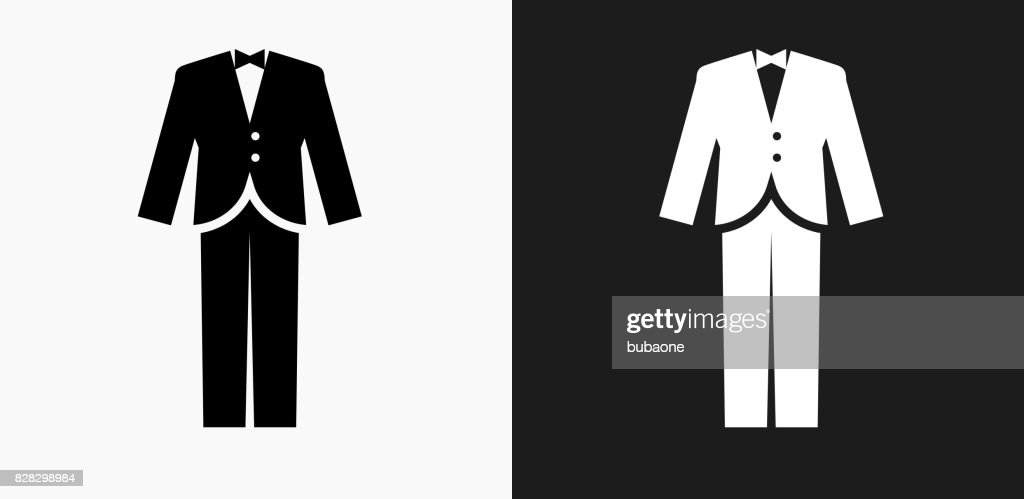 Tuxedo Icon on Black and White Vector Backgrounds : stock illustration
