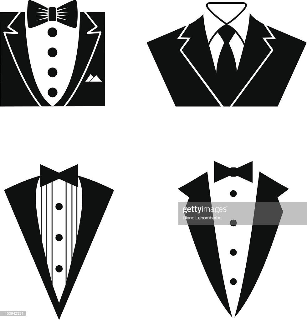 Tuxedo Icon Set Vector Art