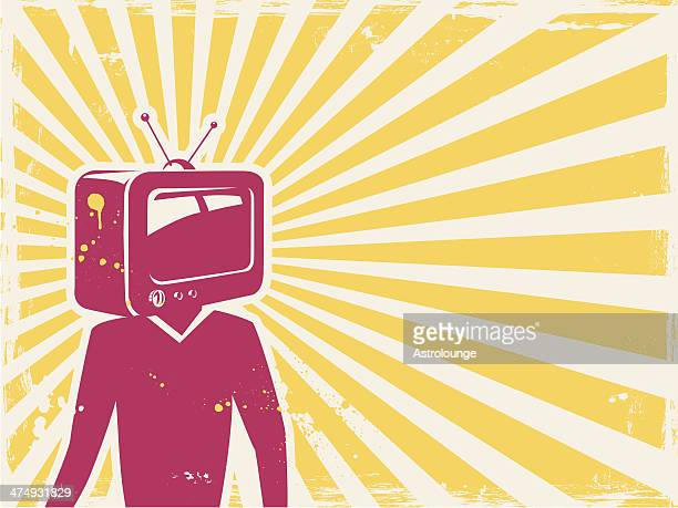 tv - projection screen stock illustrations