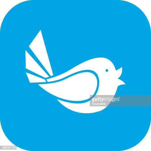 ilustrações de stock, clip art, desenhos animados e ícones de tweeting bird icon - canto de passarinho