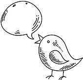 Tweety bird icon Drawing