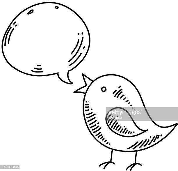 Tweety Bird Symbol Zeichnung
