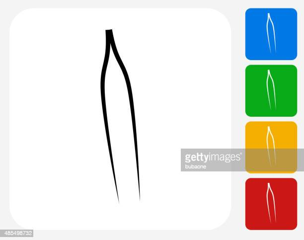tweezers icon flat graphic design - 修眉 幅插畫檔、美工圖案、卡通及圖標