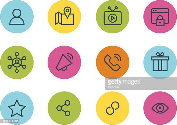 Icônes de médias et de la Communication