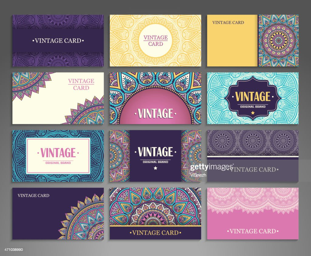 Twelve pixelated business card designs