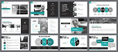 Twelve Workflow Slide Templates Set