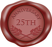 Twent Fifth Anniversary Wax Seal Icon