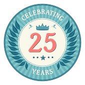 Twenty Five Years Anniversary Badge