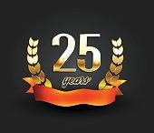 Twenty five years anniversary banner