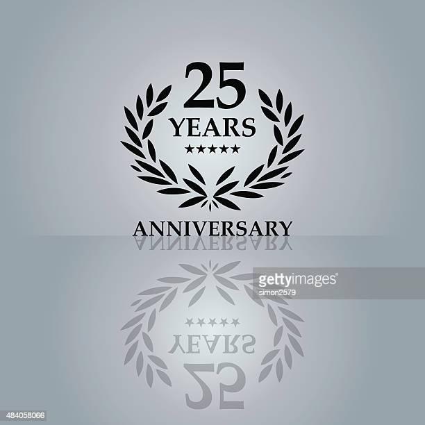 Twenty Five Years Anniversary Emblem