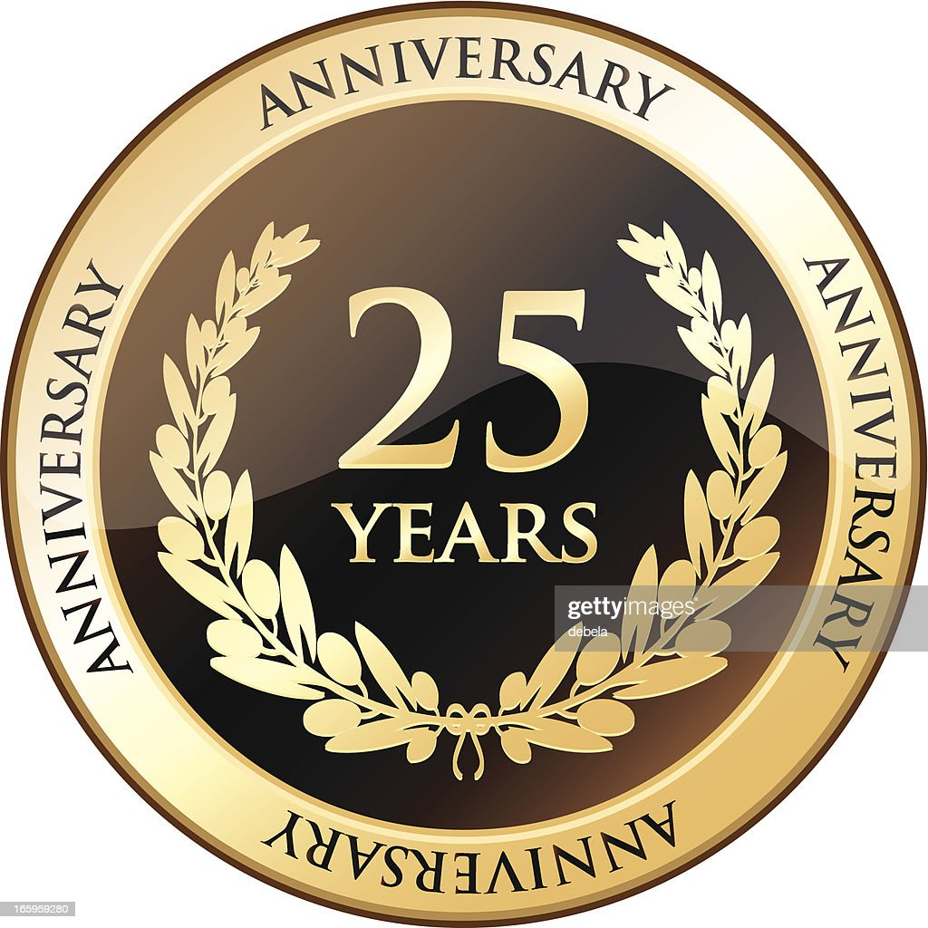 Twenty Five Years Anniversary Shield