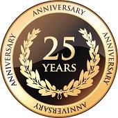 Twenty Five Years Anniversary Shield