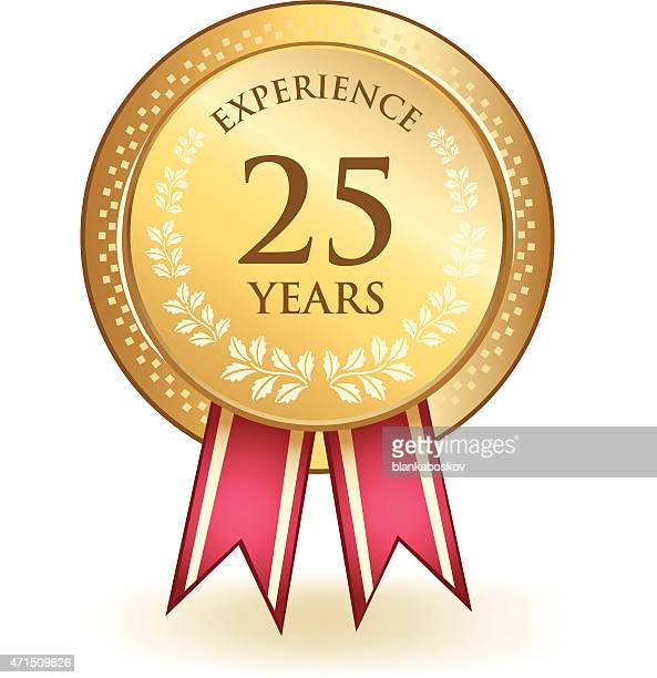 twenty five years experience - 25 29 years stock illustrations