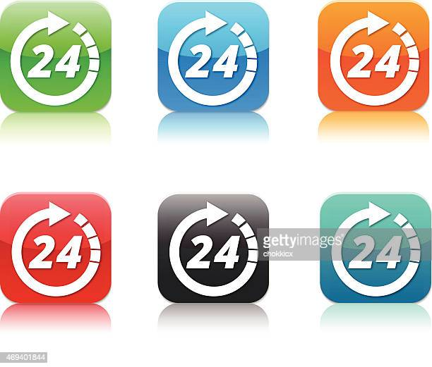 twenty four hours service app icons