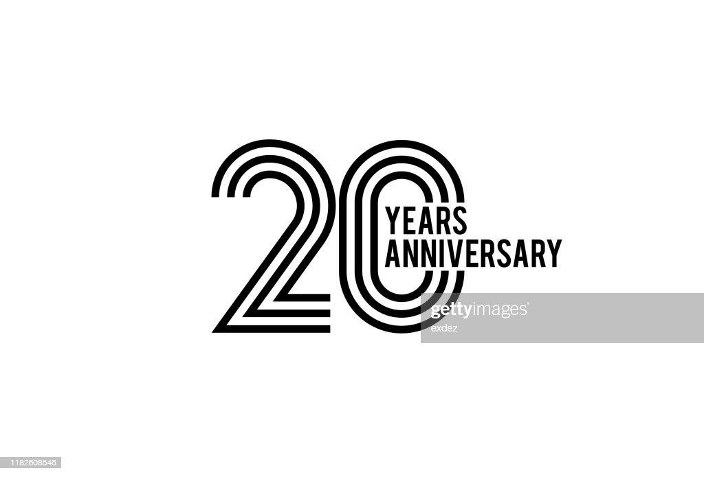 20周年記念デザイン : ストックイラストレーション
