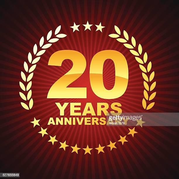 De vinte anos aniversário emblema