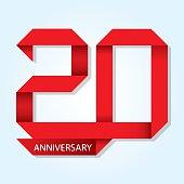 Twenty years anniversary vector