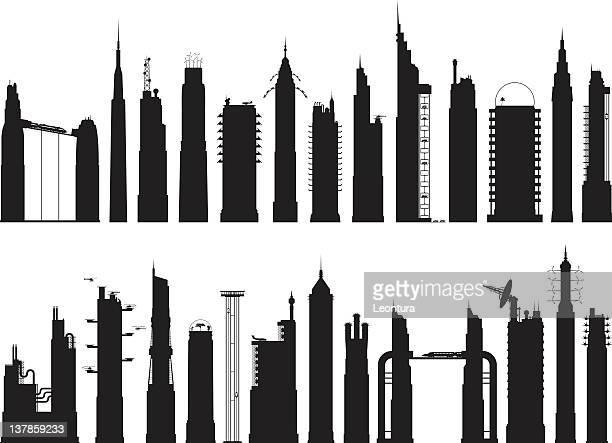 20 -5 未来的な建物 - 高い点のイラスト素材/クリップアート素材/マンガ素材/アイコン素材