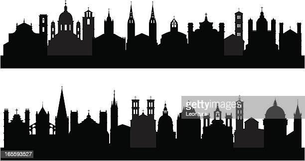 20 -2 つの教会 - 尖り屋根点のイラスト素材/クリップアート素材/マンガ素材/アイコン素材