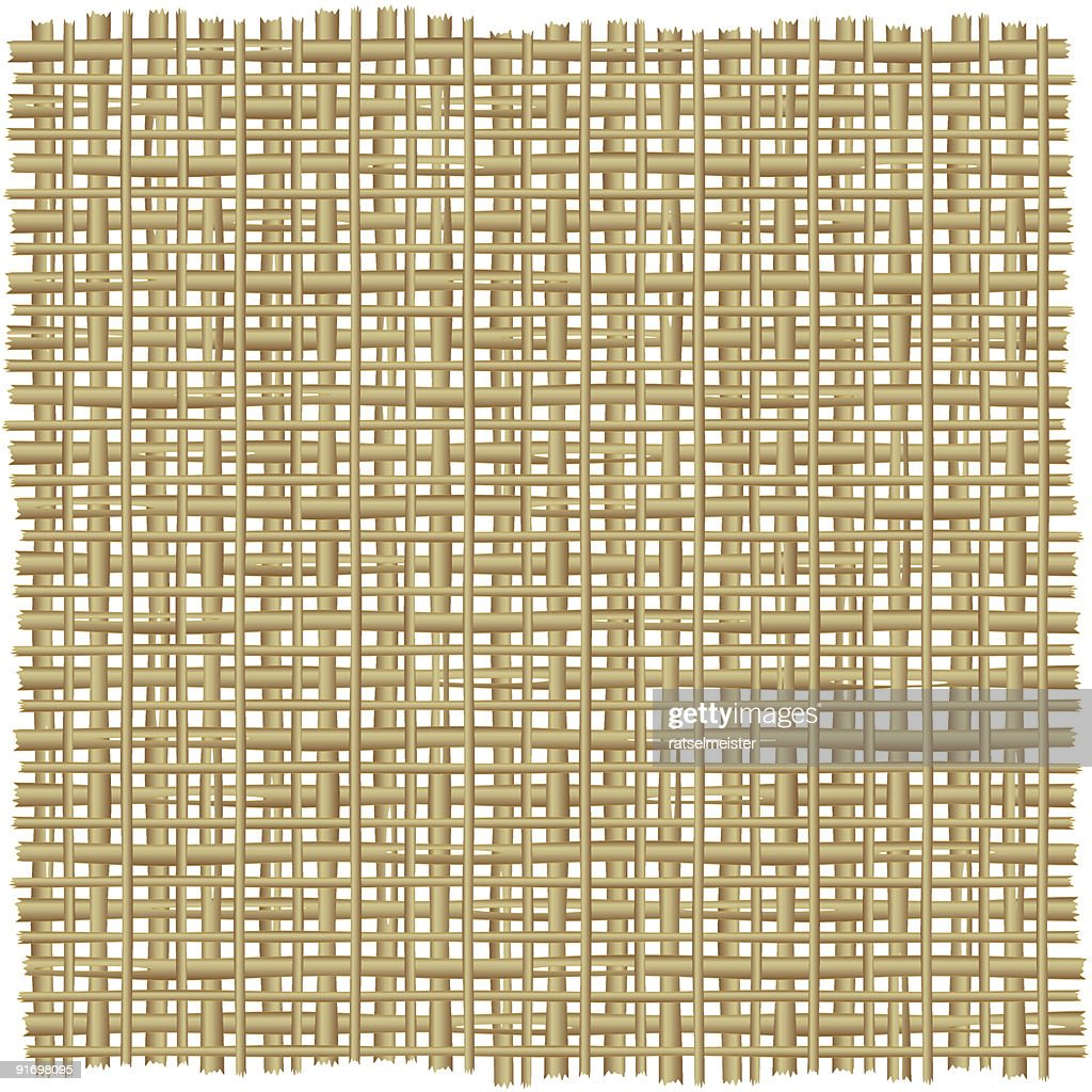 Twig, rattan, reed, rush, cane or straw mat background