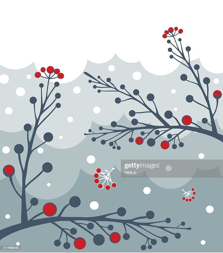 Twigs, Clouds, Snowflakes