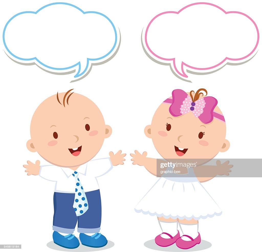 Twins. Baby boy and girl