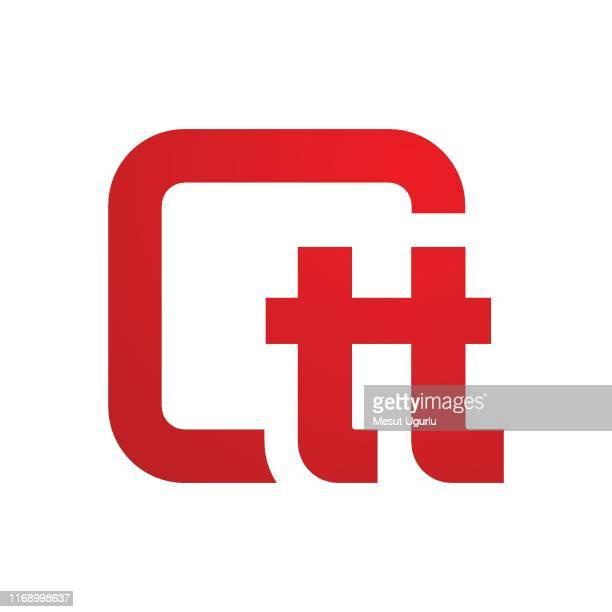 ilustrações de stock, clip art, desenhos animados e ícones de twins logo design - letra t