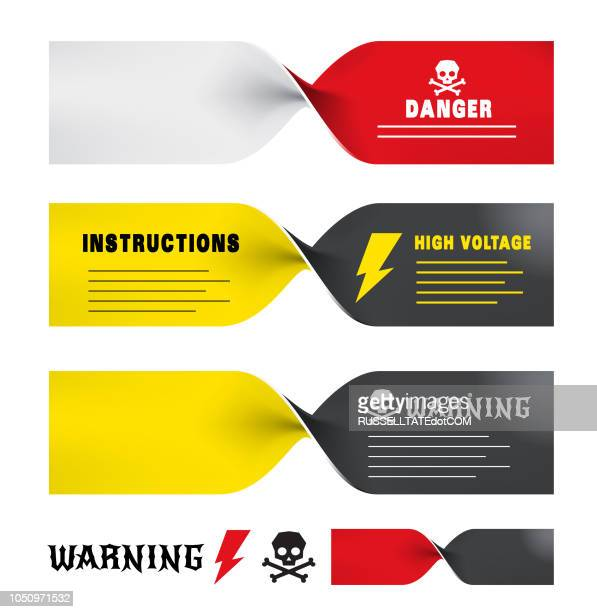 twisted warning - twisted stock illustrations