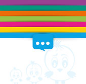 Twitter Bird icon vector background with space for text