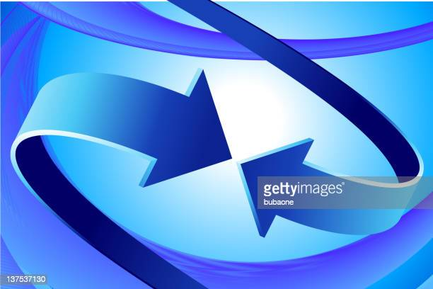 two arrows on Abstract Background