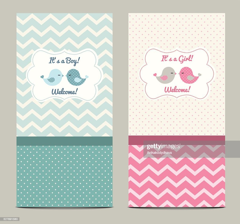 Two baby showers, illustration