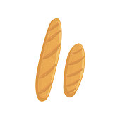 Two Baguette Bakery Assortment Icon