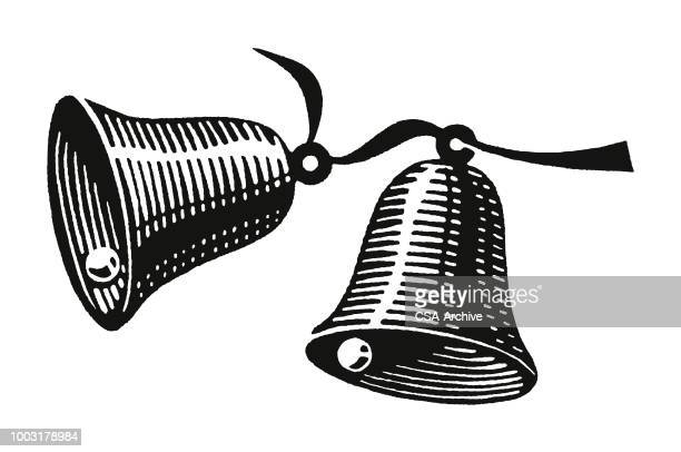 two bells - bell stock illustrations