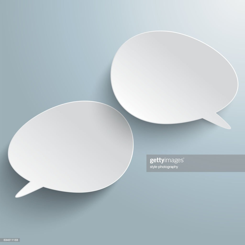 Two Bevel Speech Bubbles