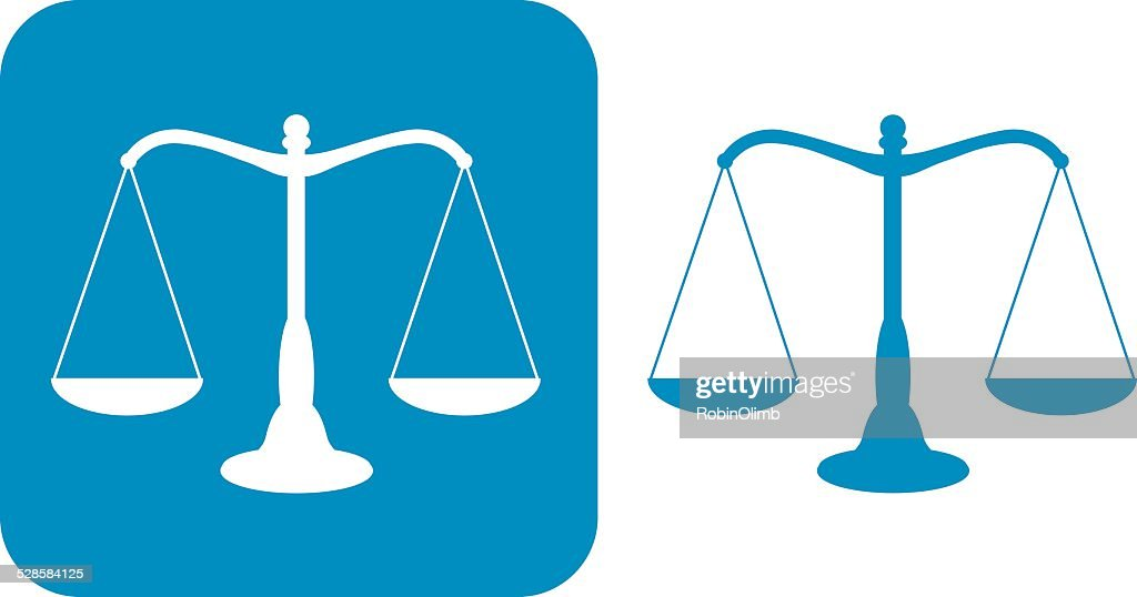 Two Blue Scales Of Justice icons