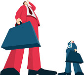 Two Businessman Searching