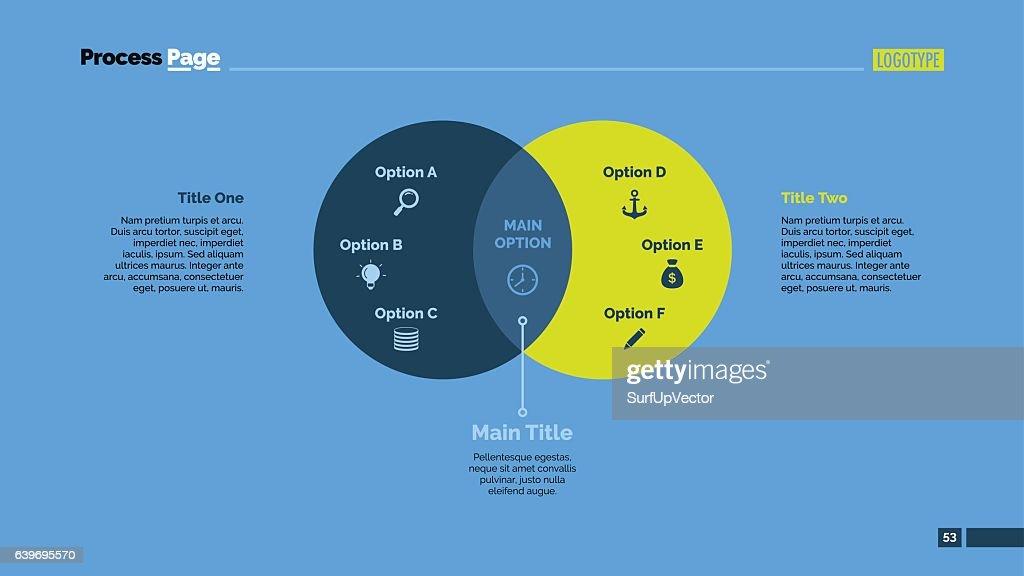 Two Circles Venn Diagram Slide Template