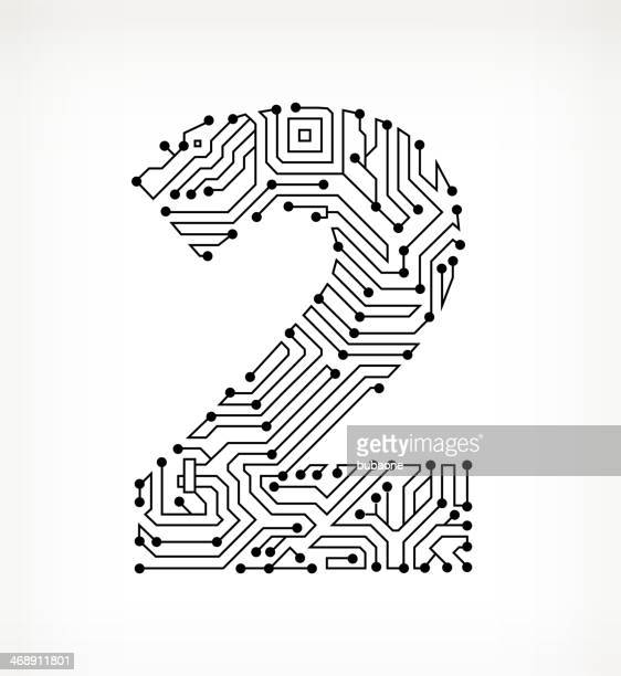 Two Circuit Board on White Background
