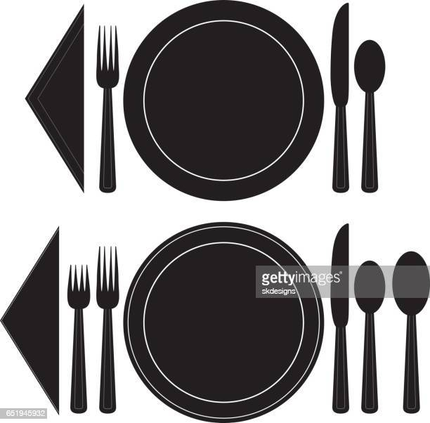 Two Classic, Basic Dinnerware Place Setting Sets